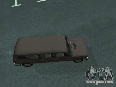 VAZ 2131 Samudera para GTA San Andreas vista posterior izquierda