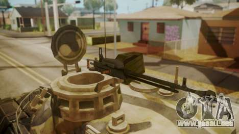 AMX 30 from Mercenaries 2 World in Flames para GTA San Andreas vista hacia atrás