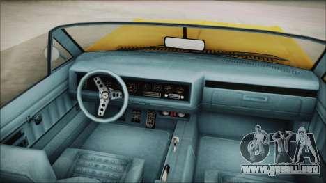 GTA 5 Albany Buccaneer Custom para GTA San Andreas vista posterior izquierda