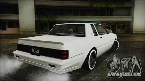 GTA 5 Willard Faction Custom without Extra Int. para GTA San Andreas left