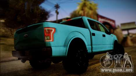 Ford F-150 4x4 2015 para GTA San Andreas left