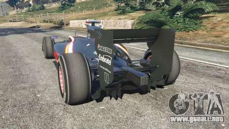 GTA 5 Hispania F110 (HRT F110) v1.1 vista lateral izquierda trasera
