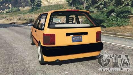 GTA 5 Fiat Tipo vista lateral izquierda trasera