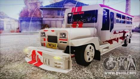 Hataw Motor Works Jeepney para la visión correcta GTA San Andreas