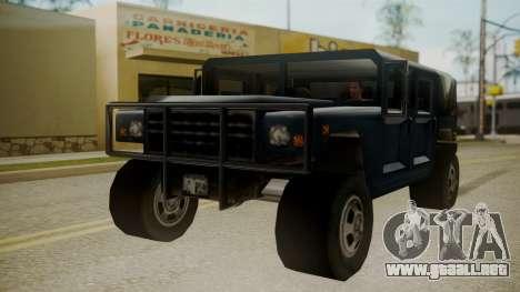 Patriot III para la visión correcta GTA San Andreas