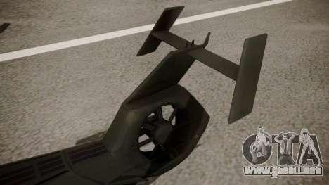AH-99 Blackfoot para GTA San Andreas vista posterior izquierda