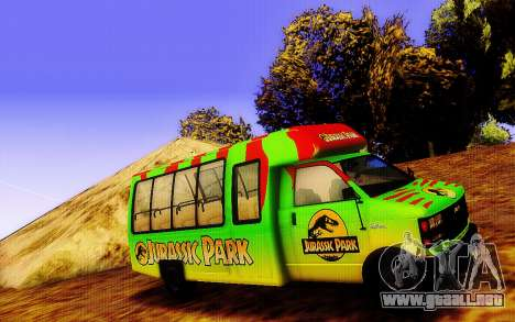 Jurassic Park Tour Bus para GTA San Andreas left