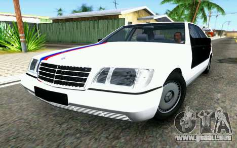 Mercedes-Benz W140 para GTA San Andreas left
