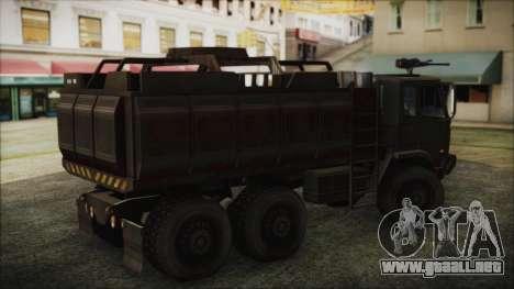 Archer Gun Truck para GTA San Andreas vista posterior izquierda