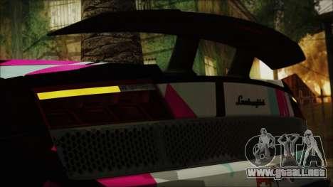 Lamborghini Gallardo LP570-4 2015 Miku Racing 4K para visión interna GTA San Andreas