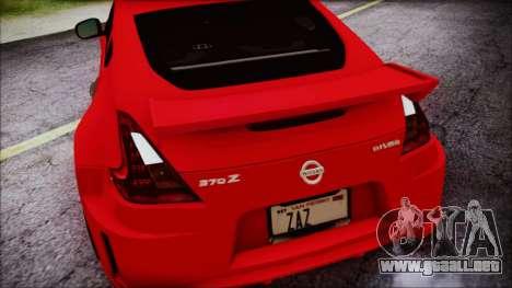 Nissan 370Z Nismo 2010 Angel Beats Itasha para la vista superior GTA San Andreas