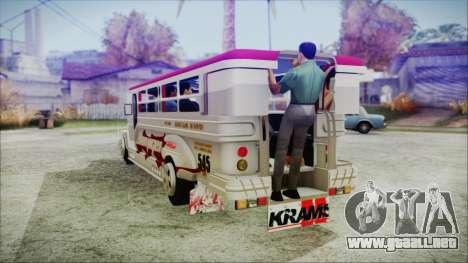 Hataw Motor Works Jeepney para GTA San Andreas left