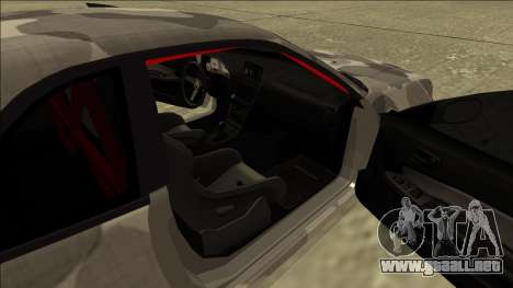 Nissan Skyline R34 Army Drift para GTA San Andreas vista hacia atrás