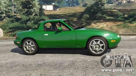 GTA 5 Mazda Miata MX-5 vista lateral izquierda