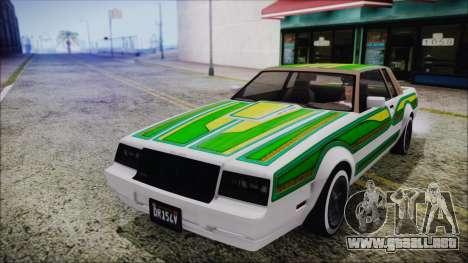 GTA 5 Willard Faction Custom without Extra Int. para visión interna GTA San Andreas