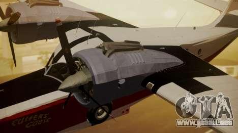 Grumman G-21 Goose NC327 Cutter Goose para la visión correcta GTA San Andreas
