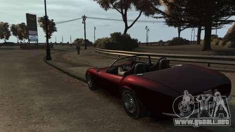 GTA V Stinger Classic para GTA 4 Vista posterior izquierda
