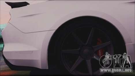 Ford Mustang Shelby GT350R 2016 para la vista superior GTA San Andreas