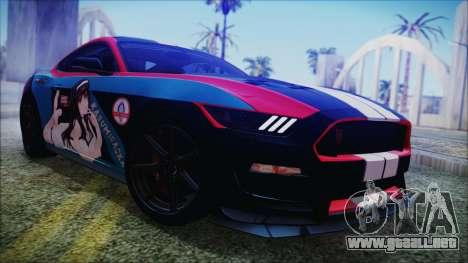 Ford Mustang Shelby GT350R 2016 Kasumigaoka para GTA San Andreas left