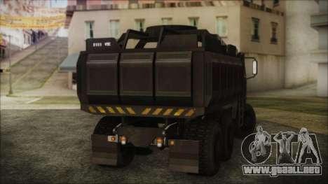 Archer Gun Truck para GTA San Andreas left