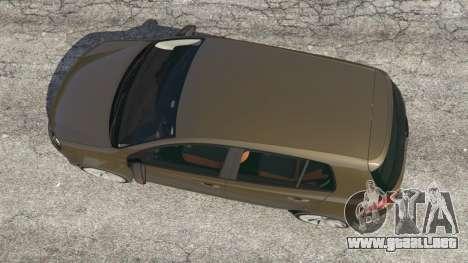 GTA 5 Volkswagen Golf Mk6 vista trasera