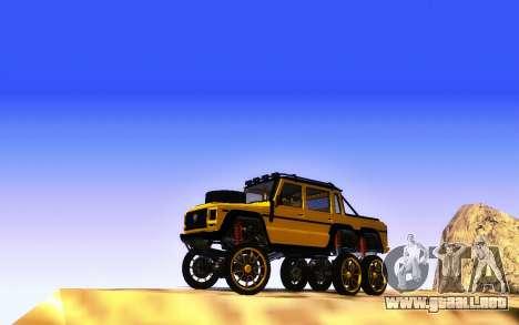 Benefactor Dubsta 6x6 Tuning Personalizado para GTA San Andreas vista hacia atrás