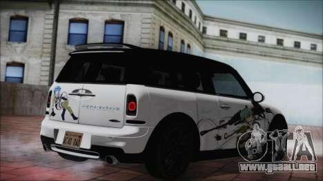 Mini Cooper Clubman 2011 Itasha para GTA San Andreas left
