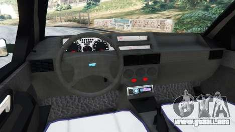 GTA 5 Fiat Tipo vista lateral trasera derecha