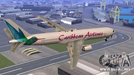 Boeing 767-300 Caribbean Airlines para GTA San Andreas left