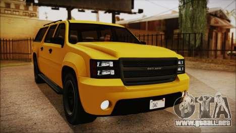 GTA 5 Declasse Granger IVF para GTA San Andreas vista hacia atrás