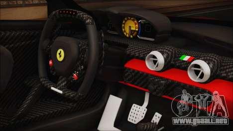 Ferrari FXX K 2016 v1.1 [HQ] para la visión correcta GTA San Andreas