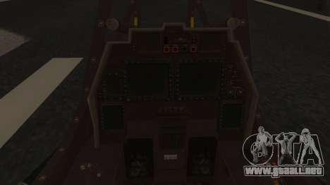 AH-99 Blackfoot para la visión correcta GTA San Andreas