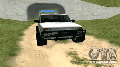 Lada Urban OFF ROAD para GTA San Andreas vista hacia atrás
