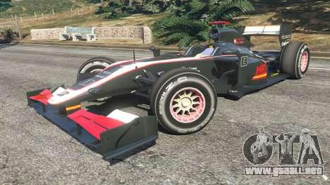 GTA 5 Hispania F110 (HRT F110) v1.1 vista lateral derecha