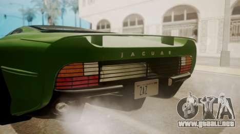 Jaguar XJ220 1992 FIV АПП para vista lateral GTA San Andreas
