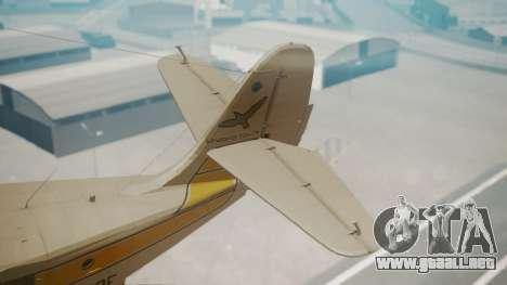 Grumman G-21 Goose WhiteYellow para GTA San Andreas vista posterior izquierda