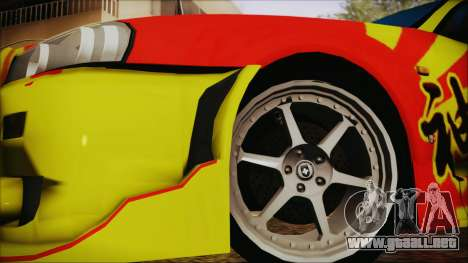 Nissan Skyline Street Racing Syndicate para GTA San Andreas vista posterior izquierda