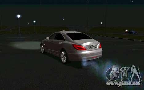 Mercedes-Benz CLS63 AMG para GTA San Andreas vista posterior izquierda