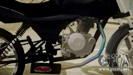 Honda Titan CG150 Stunt para GTA San Andreas vista posterior izquierda