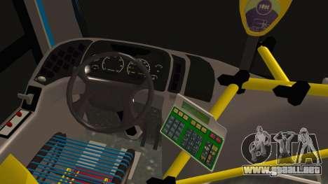 Mercedes-Benz OH1315LSB Metalpar Tronador para GTA San Andreas vista posterior izquierda