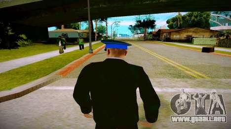 El empleado del Ministerio de Justicia v1 para GTA San Andreas sucesivamente de pantalla