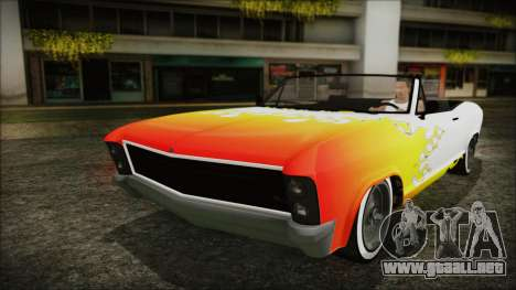 GTA 5 Albany Buccaneer Custom para vista lateral GTA San Andreas