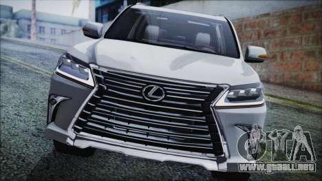 Lexus LX570 2016 para la visión correcta GTA San Andreas