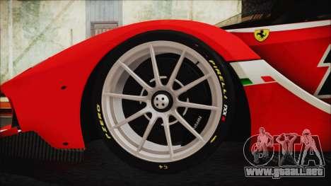 Ferrari FXX K 2016 v1.1 [HQ] para GTA San Andreas vista posterior izquierda