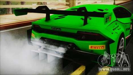 Lamborghini Huracan 610-4 GT3 2015 para GTA San Andreas vista hacia atrás