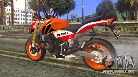 Honda Hornet Repsol 2010 para GTA San Andreas left