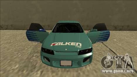 Nissan Skyline R33 Drift Falken para la vista superior GTA San Andreas