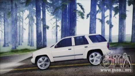 Chevrolet Triblazer para GTA San Andreas vista posterior izquierda
