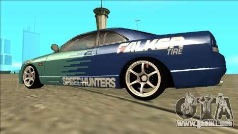 Nissan Skyline R33 Drift Falken para GTA San Andreas left
