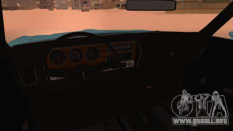 Pontiac Lemans Hardtop Coupe 1971 para la visión correcta GTA San Andreas